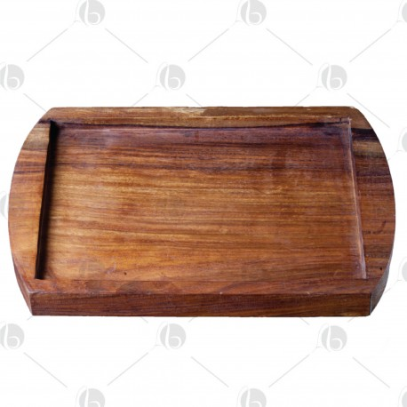Portapiastra pietra di sale in legno RETTANGOLARE