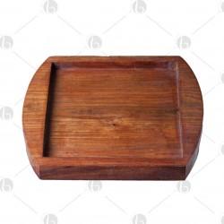 Portapiastra pietra di sale in legno 20 x 20cm