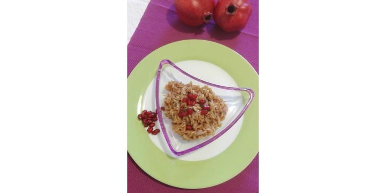 PASTA NUTRIWELL FORMATO RISO ALLA MELAGRANA: primo piatto leggero e vegano